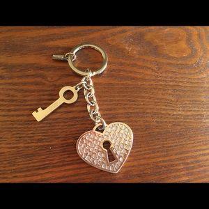 Coach Key to My Heart Keychain
